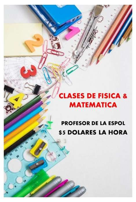 CLASES PRIVADAS DE MATEMATICAS & FISICA