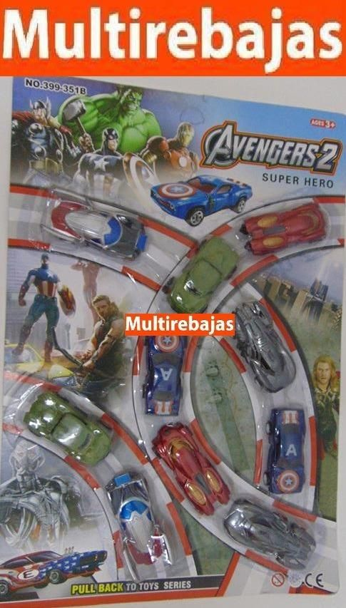 10 Carros Avengers Super Heroes