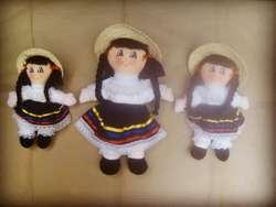 Muñeca de Trapo Colombiana Campesina