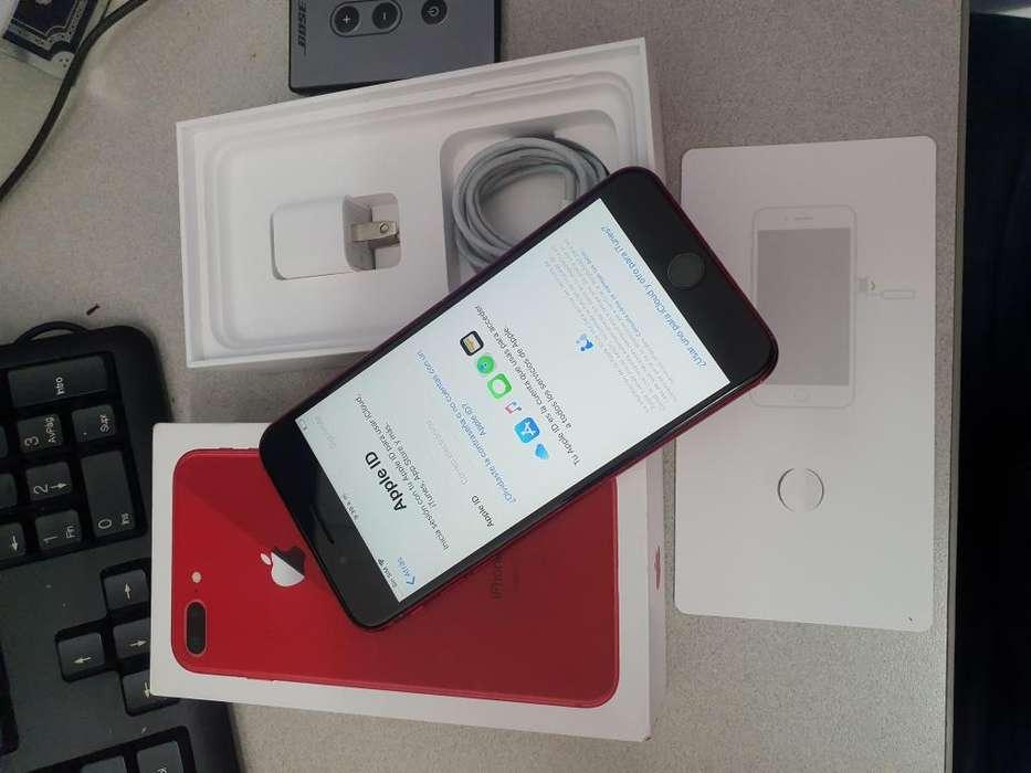 Iphone 7 plus de 128GB Rojo caja y accesorios, perfecto!!