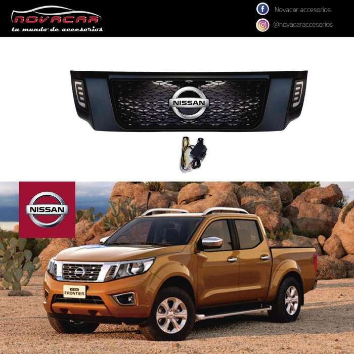 MASCARILLA FRONTAL P/ NISSAN FRONTIER 2019 CON LED
