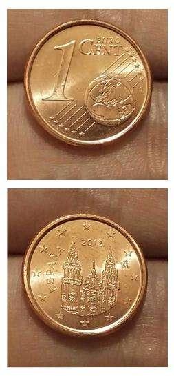 Moneda España 1 Euro Cent 10