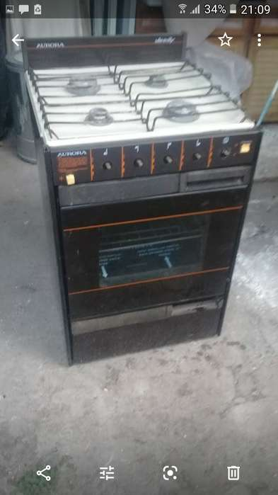 Vendo cocina aurora funcionando horno y hornallas perfectamente