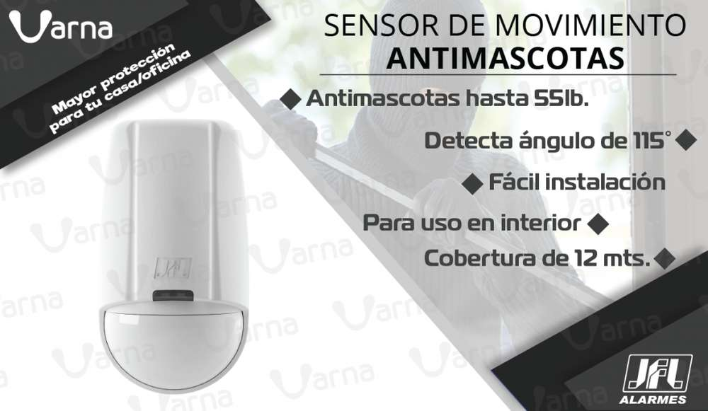 Sensor de movimiento antimascotas