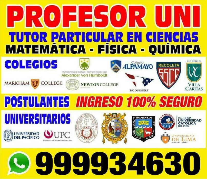 Profesor Uni A1 Excelencia Academica Dicta Cursos de Ciencias a Todos Los Niveles