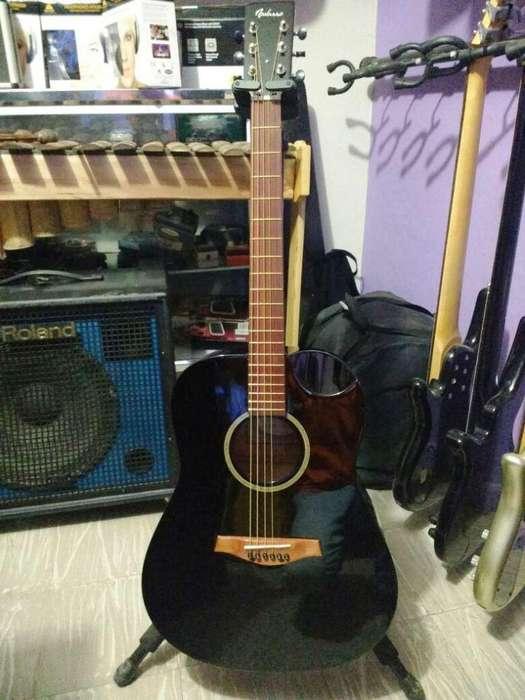 Guitarra Electroacustica Folk Navarro F32ce Cuerdas De Acero