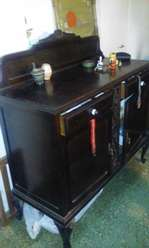 Muebles antiguos juego de mesa y mueble de comedor s/sillas