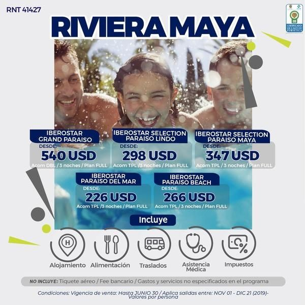 RIVIERA MAYA DESDE 800.000 POR PERSONA SIN TIQUETES WWW WEBAVIAJAR COM 305 3263880