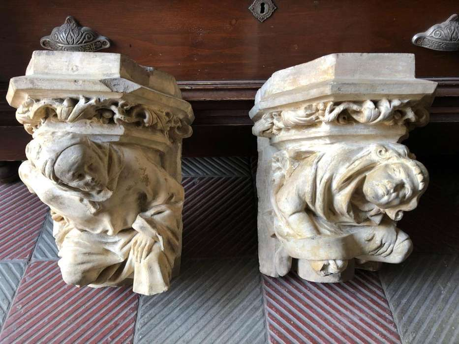Coronacion de Columnas en terracota antiguas 9 de 10 Remato