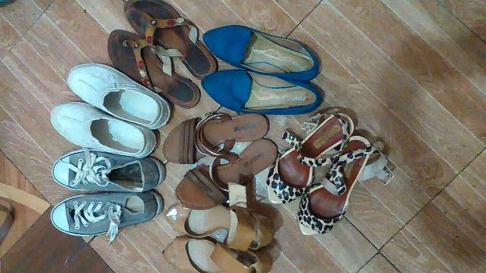 Lote de Zapatos Talla 37 en Buen Estado
