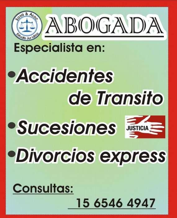 ABOGADO ACCIDENTE DE TRANSITO SUCESIONES, MOTOS AUTOS MORON. CABA CIUDADELA