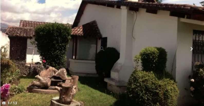 Venta Casa estilo colonial, una sola planta, con terreno de 1000 mtrs2, Triangulo, San Rafael, Rumiñahui