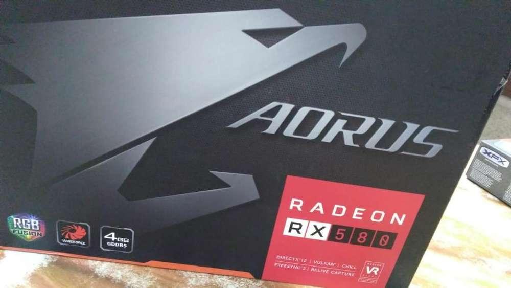 Tarjeta de Video Aorus Rx 580 4gb