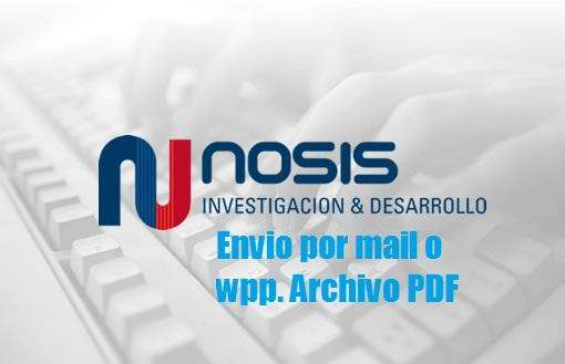 NOSIS informe comercial envio por mail o wpp