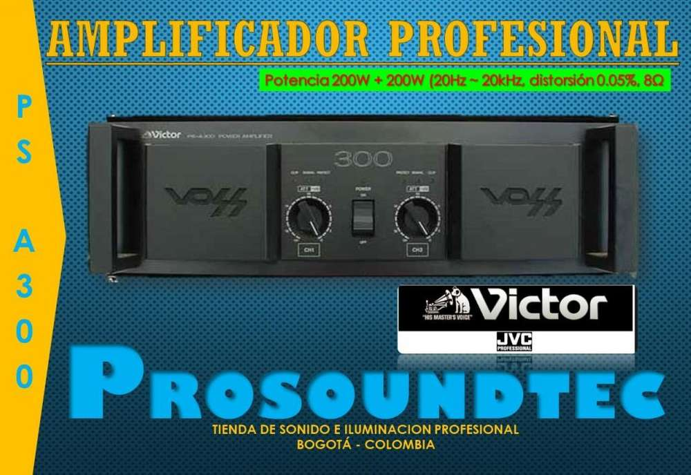 AMPLIFICADOR PROFESIONALVICTOR VOSS JVCPS A300