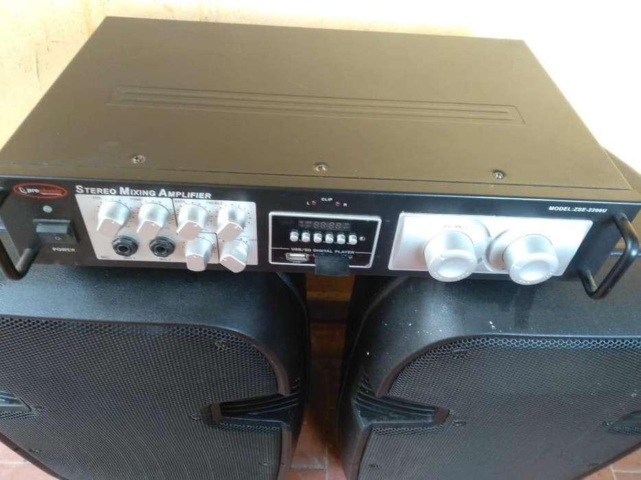 Equipo Profesional Amplificador Bluethoo