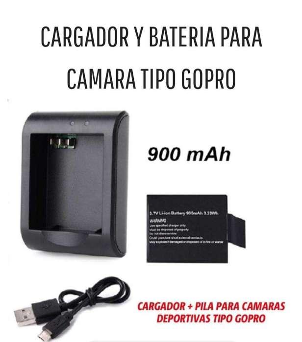 Cargador Y Bateria para <strong>camara</strong> Tipo Gopr