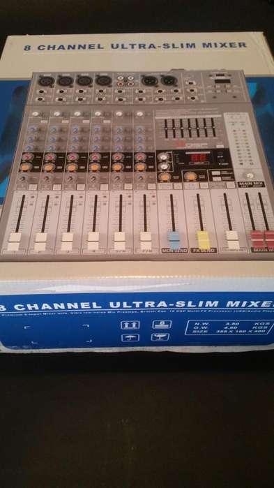 Nueva Consola Profesional England Audio 8 Canales o Cambio por Celu