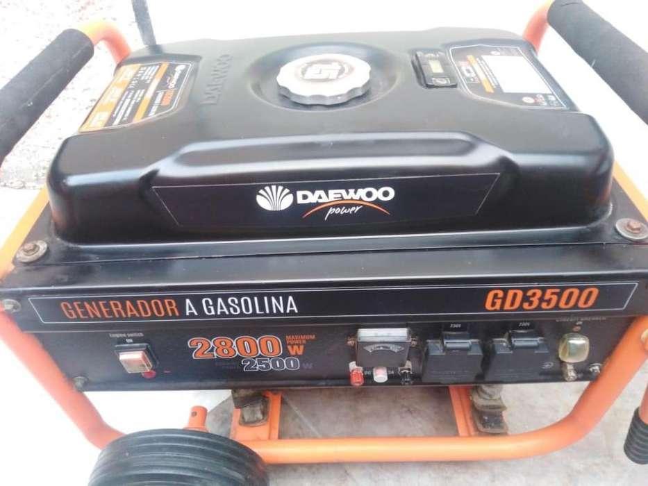 Generador de electricidad, luz a gasolina DAEWO