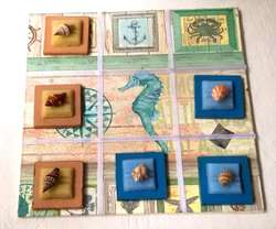 Juego de mesa artesanal, Ta Te Ti para jugar o decoración