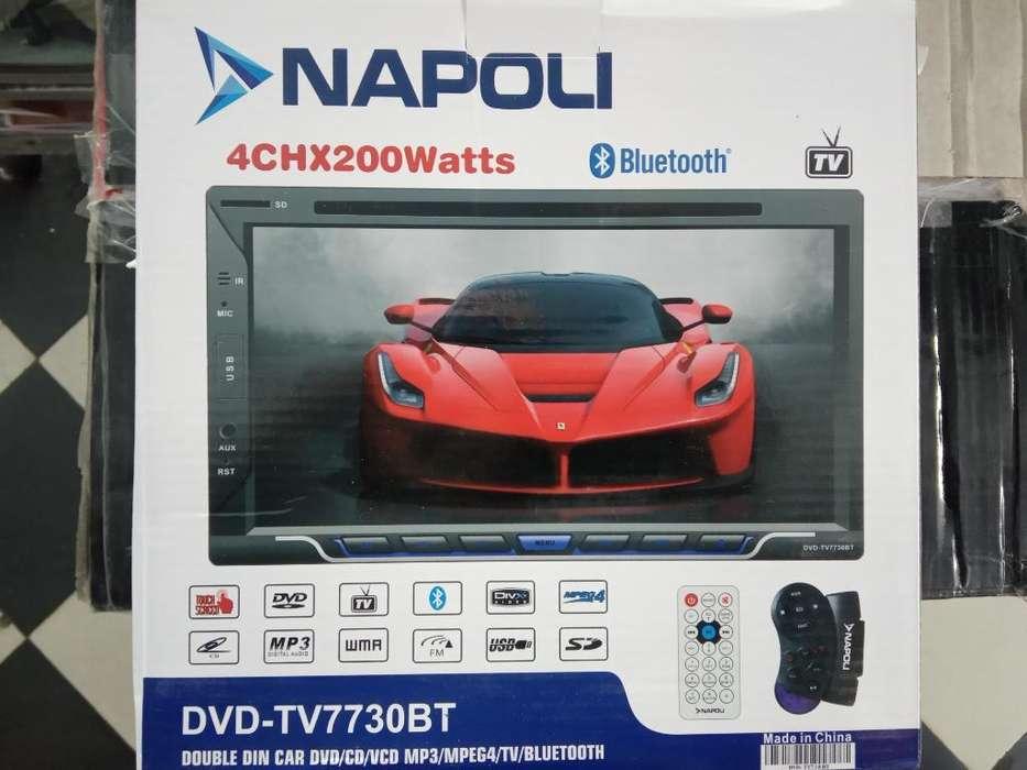 Estereo Napoli Doble Din Tactil Dvd Blue