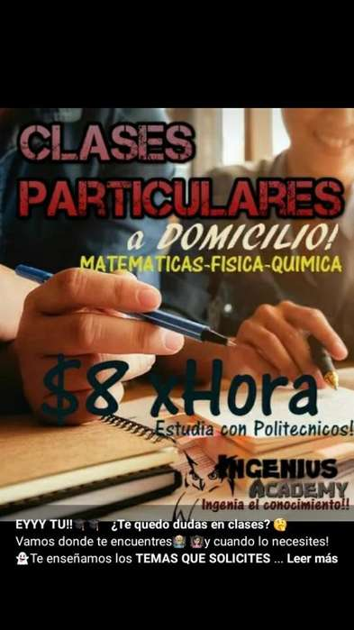 Clases Paticulares a Domicilio