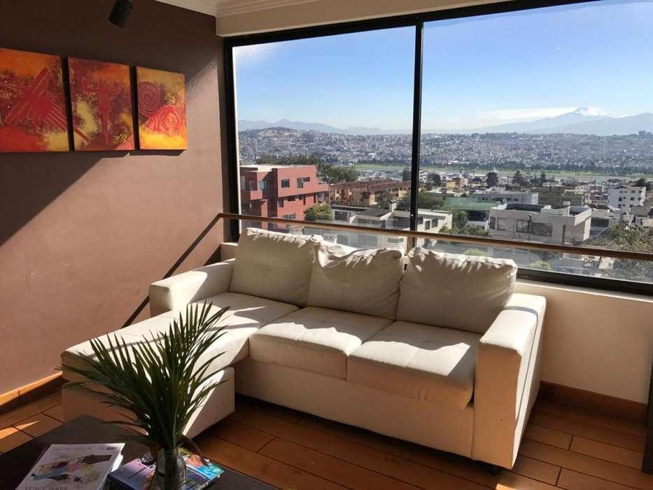 Arriendo confortable departamento de 300 m2 en el Pinar Alto (espectacular vista al occidente de Quito)