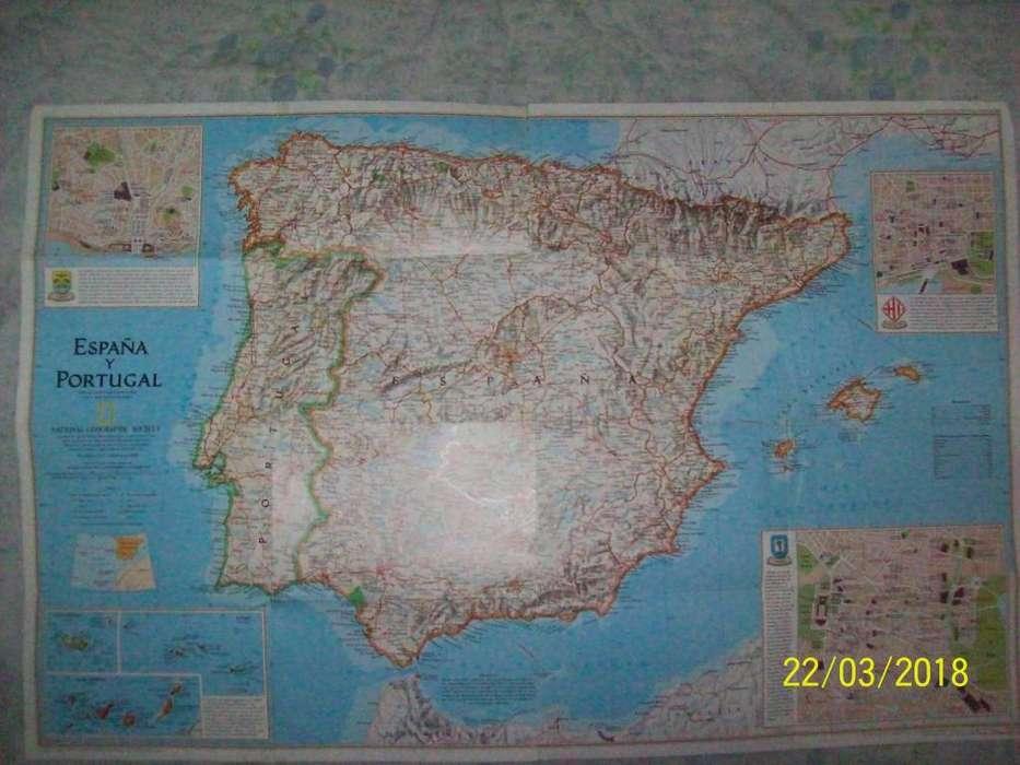 National Geographic Mapa España/Portugal de 1998