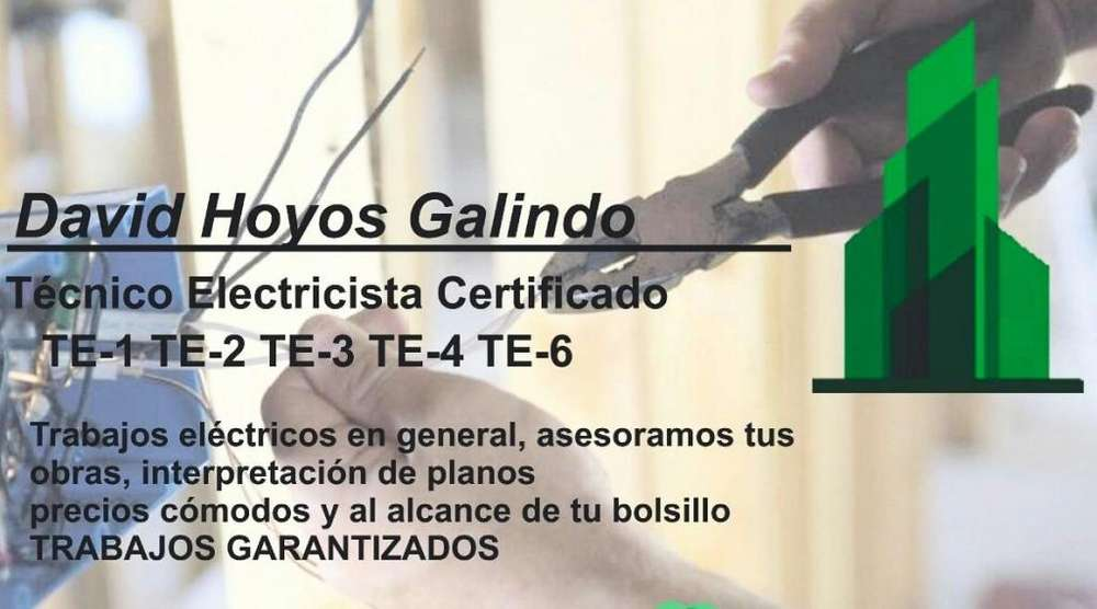 Electricista Certificado, Cotizaciones al 3003141175