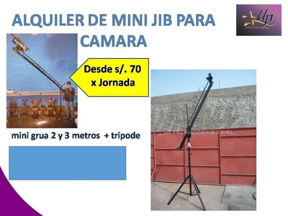alquiler de grua para camaras Lima/mini jib