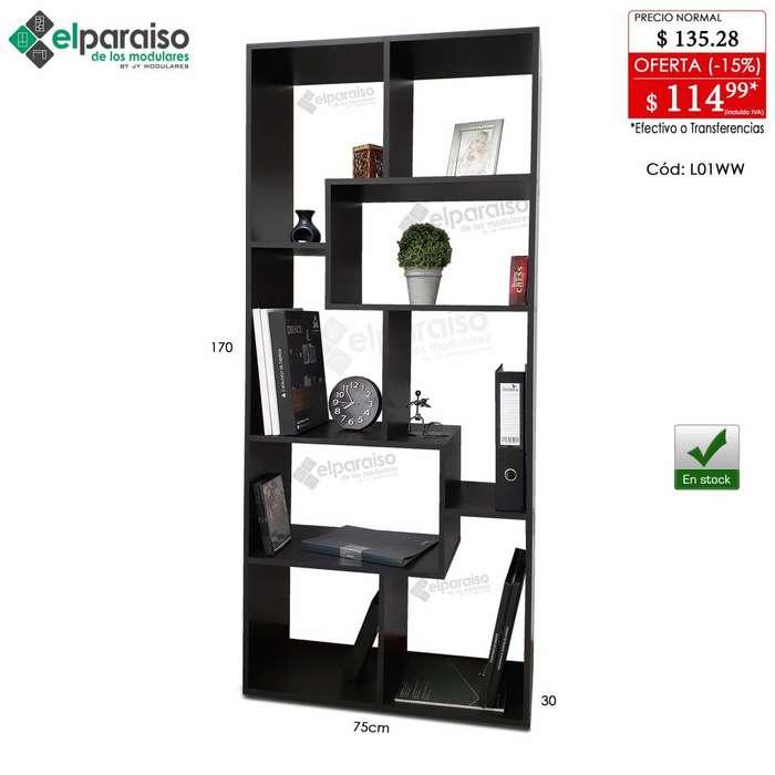 Libreros estanterías Modulares Minimalistas, multiusos, organizadores, habitación, oficina, cocina, comercio