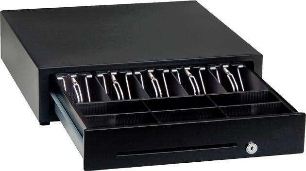 Cajón monedero SAT metálico negro