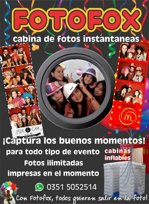 otofox, cabina de fotos inflable. El mejor recuerdo para tu fiesta