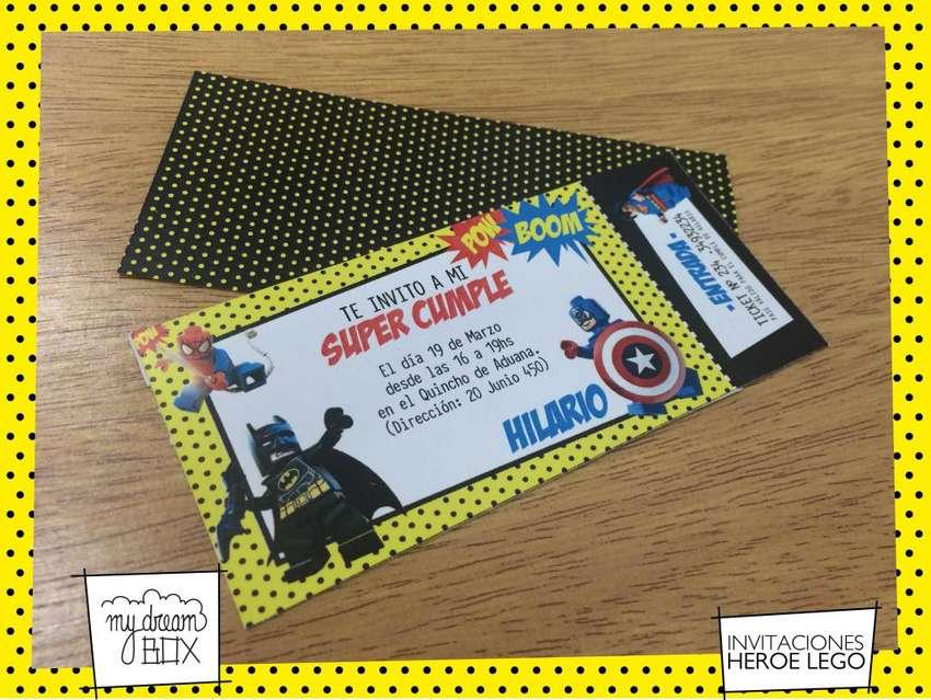 Evento Heroes Souvenir Lego Tarjeta Batman Hombre Araña