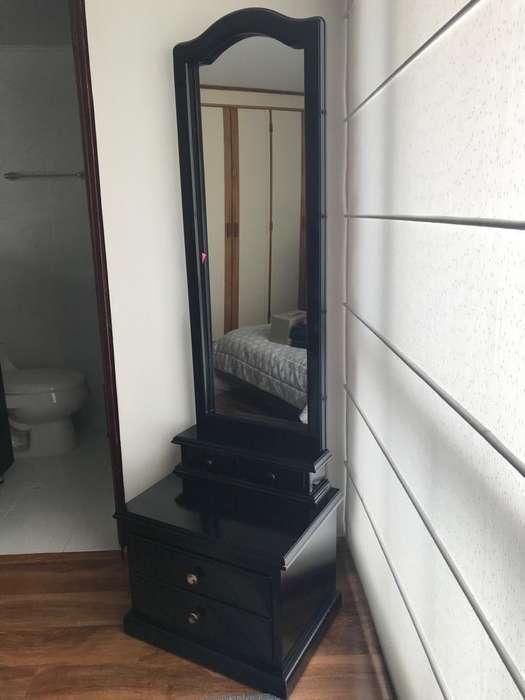 Mueble tocador Negro con espejo
