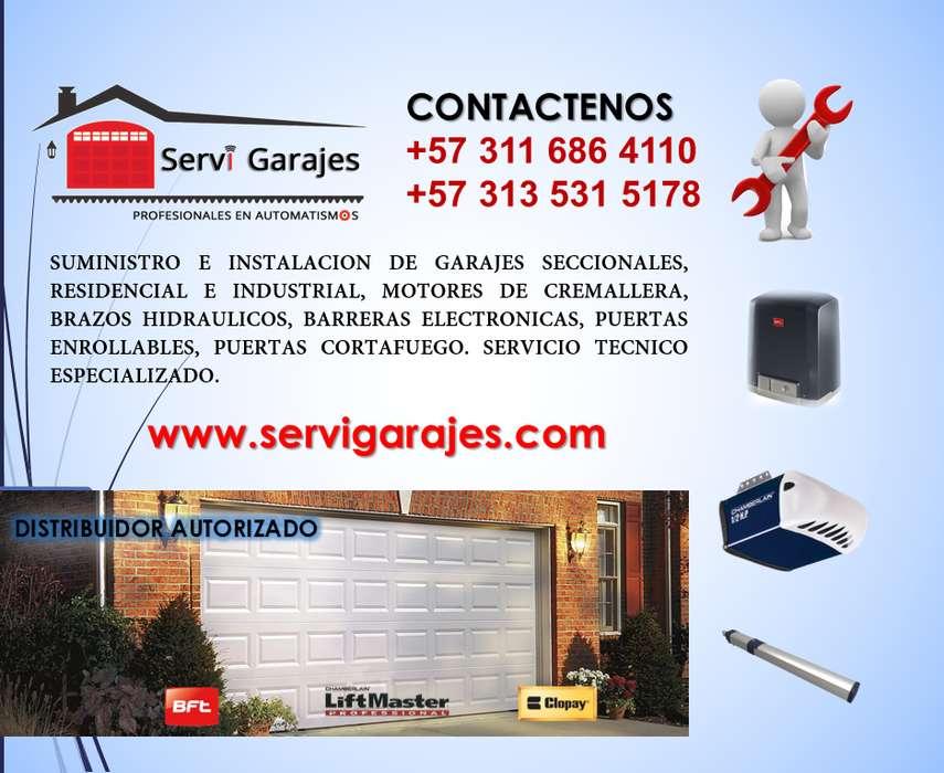 Portones de Garaje, Puertas de Garaje, Motores para rejas y portón, brazos hidráulicos, somos Servi Garajes SAS