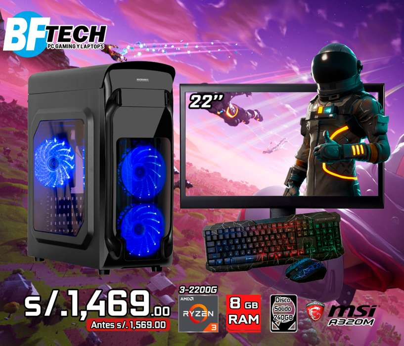 PC GAMING RYZEN 3 2200G 3.5GHz 3