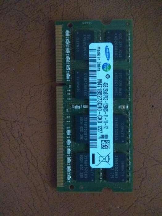 Vendo Memoria Ram ddr3 de 4 giagas