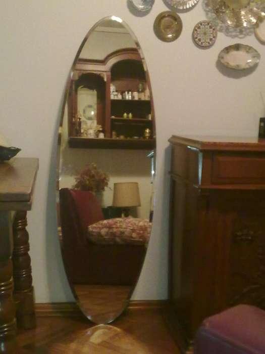 Espejo Frances Oval Impecable Y Barato Mas De 200 Años 12000