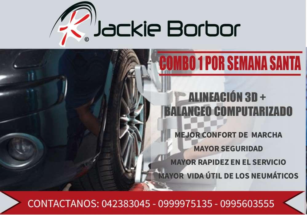 ALINEACION Y BALANCEO EN PROMOCION GRATIS REVISION DE SUSPENSION Y FRENOS LLANTAS JACKIE BORBOR