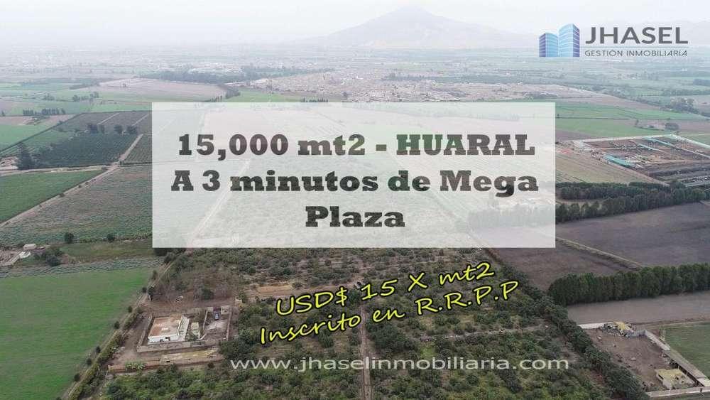 VENDO TERRENO AGRÍCOLA DE 15,000 MT2 EN HUARAL