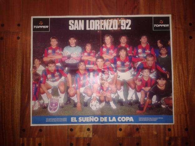 Póster Revista El Gráfico San Lorenzo 1992