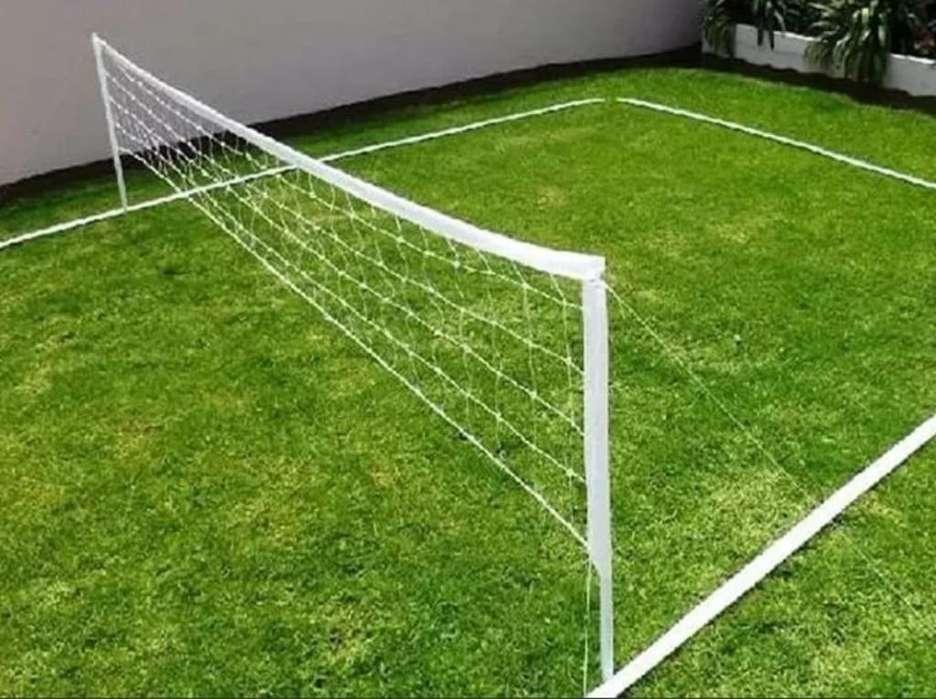 Cancha Futbol Tenis (kit Super Completo)