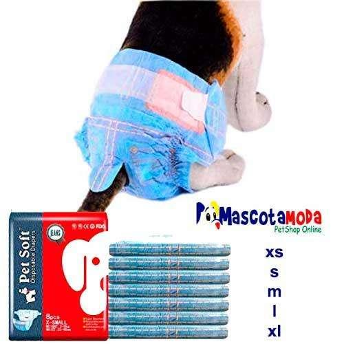 Pañales para cachorros perritas y perros adultos con diseño bluejean