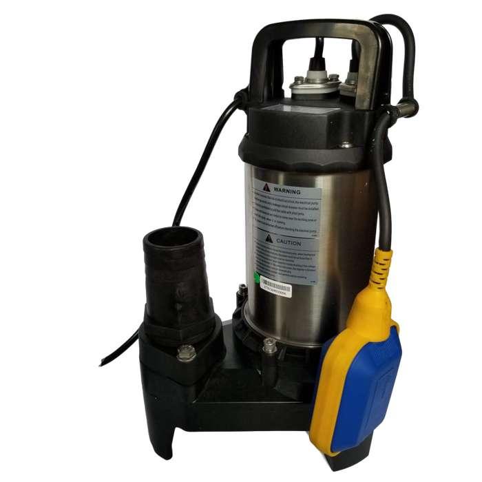 Bomba Sumergible 0.5hp para piletas y sumidero, paso de solidos para desague