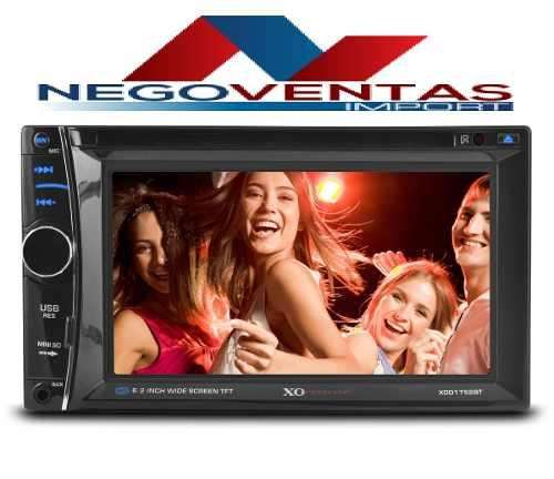 RADIO DOBLE DIN PARA CARRO CD DVD USB SD FM AUX BLUETOOTH TOUCH ENTRADA PARA CAMARA RETRO, SALIDA DE VIDEOS PANTALLA 6,5