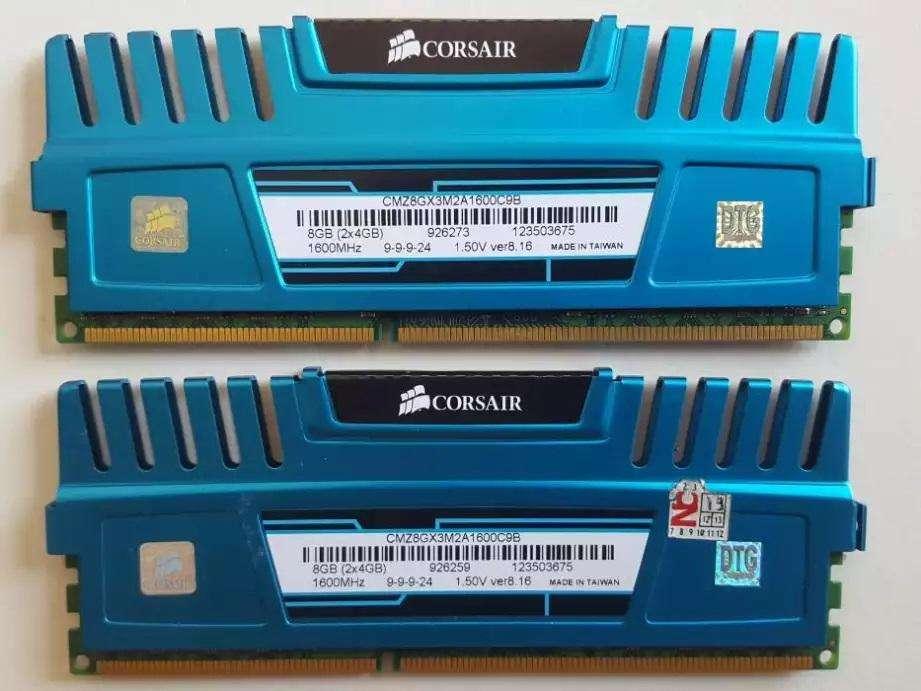 Memoria DDR3 CORSAIR 8GB (4GBx2) CMZ8GX3M2A1600C9B
