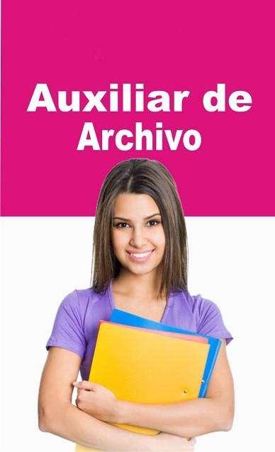 SE SOLICITA <strong>auxiliar</strong> DE ARCHIVO