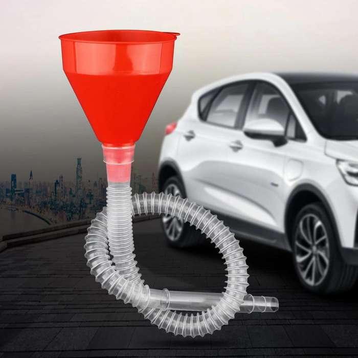 Embudo Flexible para combustible, agua, aceite, gasolina, Diesel