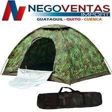 CARPA <strong>camping</strong> CAMUFLAJE PARA 4 PERSONAS IMPERMEABLE CAMUFLADA